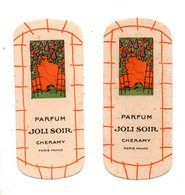 "2 CARTES PARFUMÉES . PARFUM "" JOLI SOIR "" . CHERAMY PARIS - Réf. N°24499 - - Cartes Parfumées"