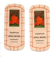 "2 CARTES PARFUMÉES . PARFUM "" JOLI SOIR "" . CHERAMY PARIS - Réf. N°24500 - - Perfume Cards"