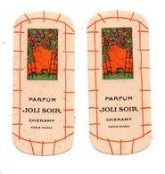 "2 CARTES PARFUMÉES . PARFUM "" JOLI SOIR "" . CHERAMY PARIS - Réf. N°24502 - - Perfume Cards"