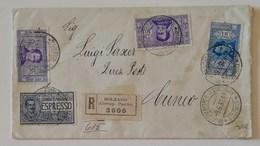 Busta Di Lettera Raccomandata/Espresso Bolzano-Cuneo - 09/06/1936 - 1900-44 Vittorio Emanuele III