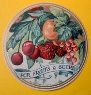 12521 - Pur Fruits Et Sucre Ancienne étiquette - Fruits Et Légumes