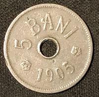 ROUMANIE - ROMANIA - 5 BANI 1905 - Carol I - KM 31 - Roumanie