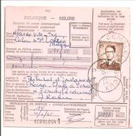 Postwissel-Mandat De Poste 4F50 Boudewijn Nr 1068A Seul-Enkel Gembloux - 1953-1972 Anteojos