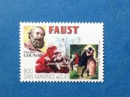 1999 SAN MARINO FRANCOBOLLO NUOVO STAMP NEW MNH** TEATRO OPERA COMPOSITORE CHARLES GOUNOD FAUST - San Marino