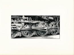 J69 - PHOTOGRAPHIE - Hommage à La Vapeur De Claude Vadam - Roues De Locomotive - Trains