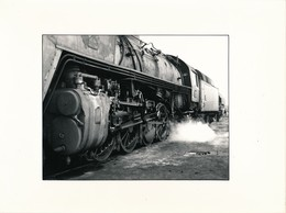 J69 - PHOTOGRAPHIE - Hommage à La Vapeur De Claude Vadam - Locomotive Et Tander - Trains