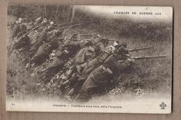 CPA GUERRE 14-18 - CROQUIS DE GUERRE 1914 - Infanterie - Tirailleurs Sous Bois , Dans L'Argonne - TB PLAN POILUS - Guerre 1914-18