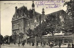 Cp Versailles Yvelines, La Mairie, Vue Générale, Piétons, Arbres - France