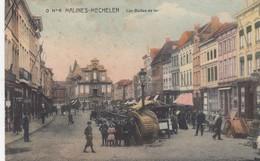 MECHELEN / BAILLES DE FER / ANIMATIE /  1913  / ZEER ZELDZAME KAART - Malines