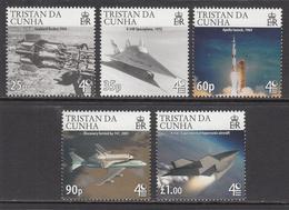 2009 Tristan Da Cunha  Space Exploration Complete Set Of 5  MNH - Tristan Da Cunha