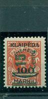Memel, Neuer Wert Auf Klaipeda-Marke Nr. 231 Falz * BPP Geprüft - Memel (Klaïpeda)