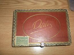 Old Wooden Tobacco Box Odilos  25 Zigarren - Cajas Para Tabaco (vacios)