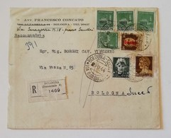 Busta Di Lettera Raccomandata Da Bologna Per Città - 09/09/1944 - Marcofilie