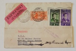 Cartolina Postale Espresso Milano-New York - 18/06/1933 - 1900-44 Vittorio Emanuele III