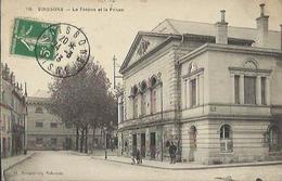 9908 CPA Soisson - Le Théâtre Et La Prison - Soissons