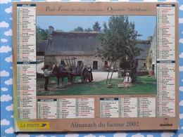 CALENDRIER DU FACTEUR ALMANACH SCENES DE LA CAMPAGNE LES POMMES LE BLE 2002 - Calendriers