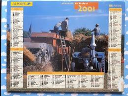 CALENDRIER DU FACTEUR ALMANACH TRAVAUX A LA CAMPAGNE TRACTEUR LANZ BULLDOG 2001 - Calendriers