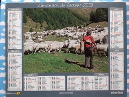 CALENDRIER DU FACTEUR ALMANACH TRAVAUX A LA CAMPAGNE LA MONTAGNE BERGER 2013 - Calendriers
