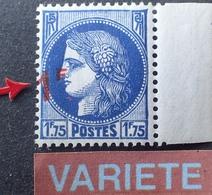 R860/18 - 1941 - TYPE CERES De MAZELIN - N°486 BdF NEUF** - VARIETE ➤➤➤ Surcharge Déplacée - Variedades: 1941-44 Nuevos