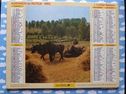 CALENDRIER DU FACTEUR ALMANACH MOISSON EN BERRY FENAISON 1993 - Calendriers