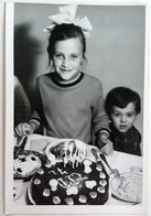 №32  Photography Of Children's Birthday, Holiday, Girl - Sofia 1970, Old FOTO PHOTO - Anonymous Persons