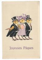 """Cpa """"Joyeuses Pâques"""" Poussins Humanisés (8900) - Easter"""