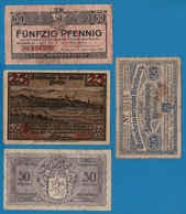 LOT 4 X BILLETS  NOTGELD BANKNOTES - Monnaies & Billets