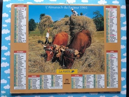 CALENDRIER DU FACTEUR ALMANACH TRAVAUX DES CHAMPS  1995 - Calendriers