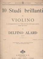 Spartito 10 Studi Brillanti Per Violino - DELFINO ALARD - G. RICORDI & CO. - Opéra