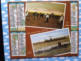 CALENDRIER DU FACTEUR ALMANACH TRAVAUX DES CHAMPS EN BEAUCE 1992 - Calendriers