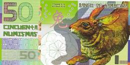 BANCO DE KAMBERRA 50 NUMISMAS 2011 ANNO DEL CONIGLIO PRIVATE ISSUE - Billets