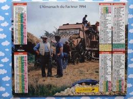 CALENDRIER DU FACTEUR ALMANACH TRAVAUX DES CHAMPS VENDANGES VIGNES  1994 - Calendriers