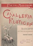 Spartito CAVALLERIA RUSTICANA P. MASCAGNI - Transcription Violino SONZOGNO - Opéra