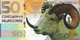 BANCO DE KAMBERRA 50 NUMISMAS 2015 ANNO DELLA CAPRA PRIVATE ISSUE - Bankbiljetten