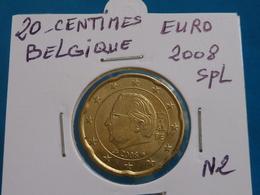 20 CENTIMES EURO BELGIQUE 2008 Spl ( Livrée Sous étui H B - 2 Photos  ) - België