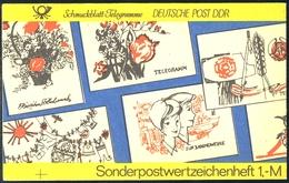 SMHD 19 Telegramme 1985 Mit DDF Auf 4.DS Kreuz Am Unterrand Links, ** - Carnets