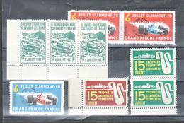 Erinophilie, Lot De 9 Vignettes Sur Le Sport Automobile à Clermont Ferrand - Sports