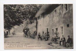 - CPA LE BOURGET-DU-LAC (73) - Le Col Du Mont Du Chat - Le Restaurant Michaud - Le Courrier D'Yenne (belle Animation) - - Le Bourget Du Lac