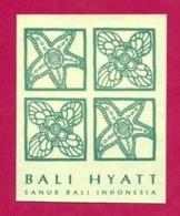 Etiquette    Hyatt Bali Hôtel.   Indonésie.   Luggage Label. - Etiquettes D'hotels