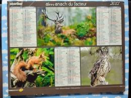CALENDRIER DU FACTEUR ALMANACH ANIMAUX DE LA FORET CERF ECUREUIL DUC ? RENARD MARCASSIN HERISSON  2011 - Calendriers