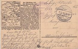 ALLEMAGNE 1915 OCCUPATION BELGIQUE CARTE EN FELDPOST - Occupazione 1914 – 18