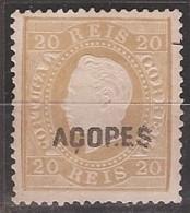 Açores, 1871/6, # 18 Dent. 13 1/2, Sob. C, MNG - Azores