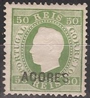 Açores, 1871/6, # 20 Dent. 12 3/4, Sob. A, MNG - Azores