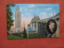 Statw Capitol & New Huey Long Bridge New Orleans Louisiana > Baton Rouge  Ref 3935 - Baton Rouge
