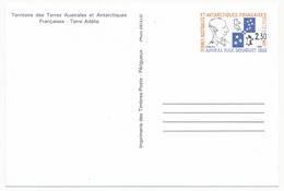 TAAF - 5 X Entier Postal Amiral Max Douguet - Obli St Martin, Dumont D'Urville, Alfred Faure, Port Aux Français Et Neuf - Entiers Postaux