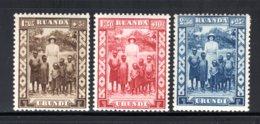 RUANDA URUNDI 108/110 MNH 1936 - Koningin Astrid En Kinderen - 1924-44: Mint/hinged
