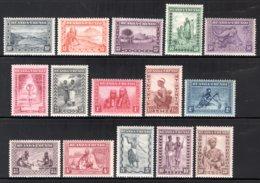 RUANDA URUNDI 92/106 MNH 1931 - Mensentypen, Landschappen En Dieren - 1924-44: Neufs