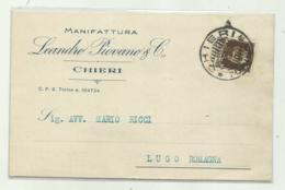 CHIERI - MANIFATTURA LEANDRO P. & C. 1933  VIAGGIATA  FP - Italia