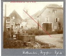 RP - Photo -Brunnen  Wattweiler Uffholz Vogesen Les Vosges   WWI WWI  - Photo Allemande    1914-1918 - France