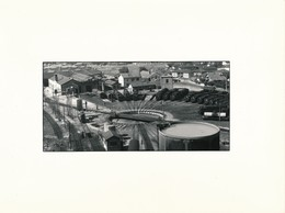 J69 - PHOTOGRAPHIE - Hommage à La Vapeur De Claude Vadam - La Rotonde Vue Du Ciel - Trains